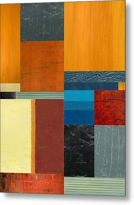 Metal Print featuring the painting Orange Study With Compliments 3.0 by Michelle Calkins
