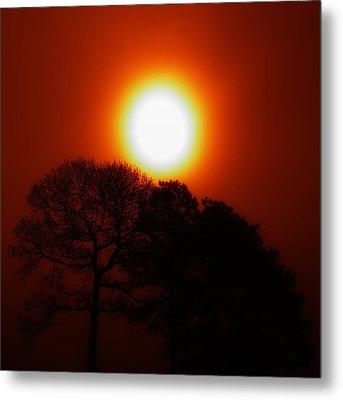 Orange Sunrise Metal Print by Greg Collins