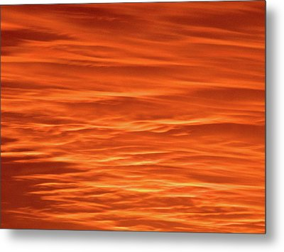 Orange Sunset Abstract Metal Print by Tony Grider