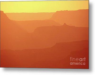 Orange Sunset At Grand Canyon Metal Print by RicardMN Photography