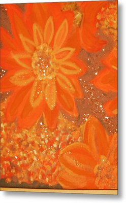 Orange You Glad You Like Orange Metal Print by Anne-Elizabeth Whiteway