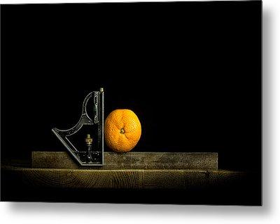 Oranges Ain't Square Metal Print by Nigel R Bell