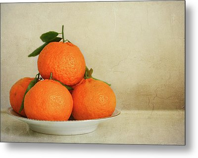 Oranges Metal Print by Annfrau