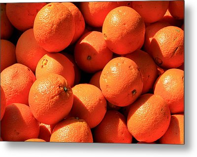Metal Print featuring the photograph Oranges by David Dunham