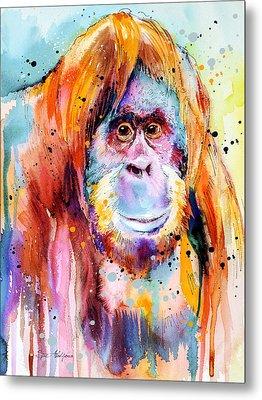 Orangutan  Metal Print by Slavi Aladjova