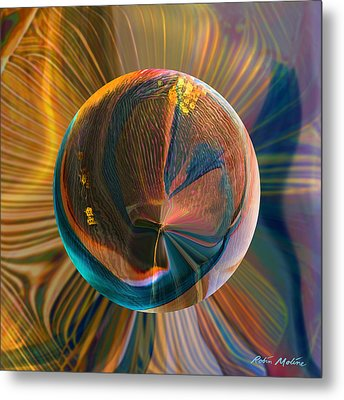 Orbing Good Vibrations Metal Print