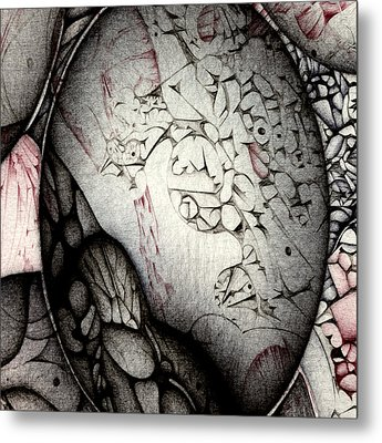 Metal Print featuring the drawing Orbs Seventh Detail by Jack Dillhunt