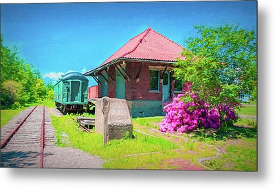 Orchard Park Depot 2890 Metal Print by Guy Whiteley