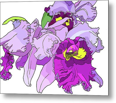Orchid Cluster Metal Print