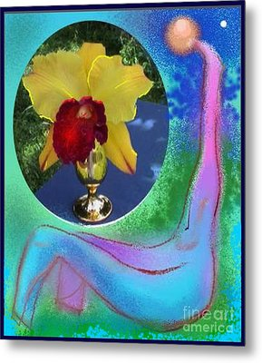 Metal Print featuring the photograph Orchid Keeper by The Art of Alice Terrill