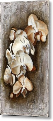 Orchid Ladder Metal Print by Daniela Easter