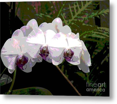Metal Print featuring the photograph Orchids Impressionistic by The Art of Alice Terrill
