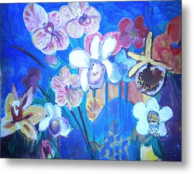 Orchids In My Dream Metal Print