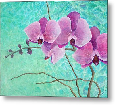 Orchids In Pink Metal Print by Arlissa Vaughn