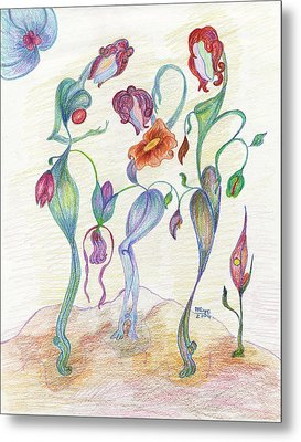 Orchids Metal Print by Mila Ryk