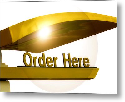 Order Up Metal Print by Karen Scovill
