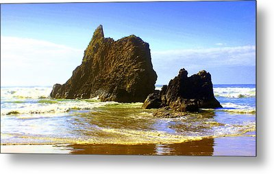 Oregon Coast 13 Metal Print by Marty Koch
