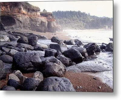 Oregon Coast Rocks Metal Print