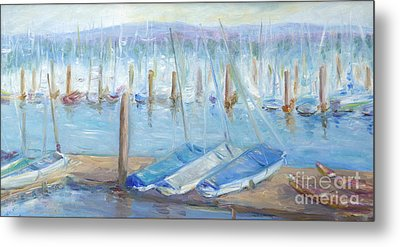 Oregon Harbor Metal Print