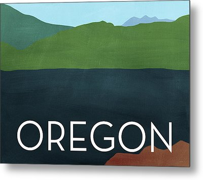 Oregon Landscape- Art By Linda Woods Metal Print by Linda Woods