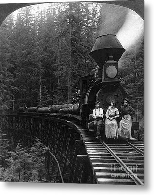 Oregon: Logging Train Metal Print by Granger
