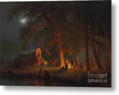 Oregon Trail Metal Print by Albert Bierstadt