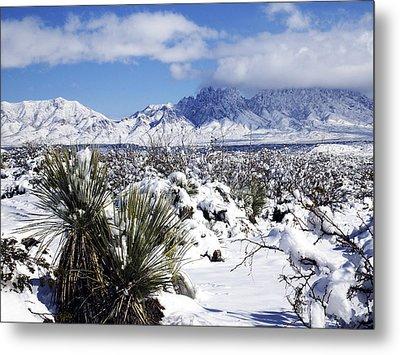 Metal Print featuring the photograph Winter's Blanket Organ Mountains by Kurt Van Wagner