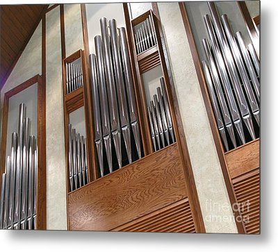 Metal Print featuring the photograph Organ Pipes by Ann Horn