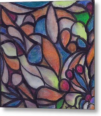 Organic Astract On Canvas 1 Metal Print
