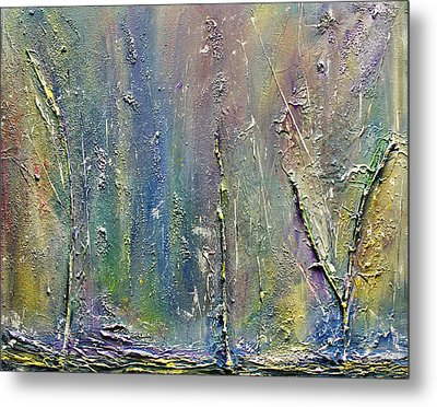 Organic Fantasy Forest Metal Print by Dolores  Deal