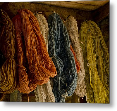 Organic Yarn And Natural Dyes Metal Print by Wilma  Birdwell