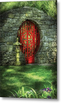 Orient - Door - The Moon Gate Metal Print by Mike Savad