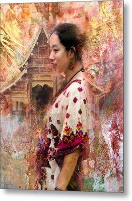 Oriental Beauty Metal Print by Steven Boone