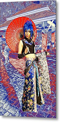 Oriental Cosplayer Metal Print by Ian Gledhill