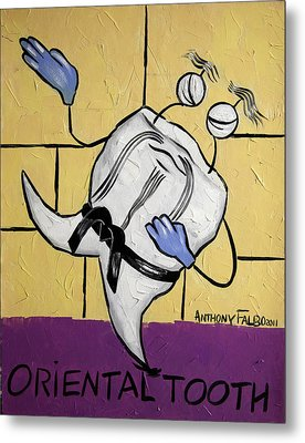 Oriental Tooth Metal Print by Anthony Falbo