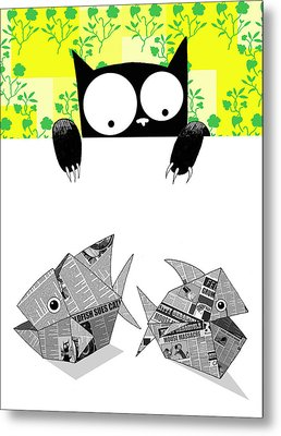 Origami Fish Metal Print by Andrew Hitchen