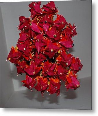 Origami Flowers Metal Print by Rob Hans