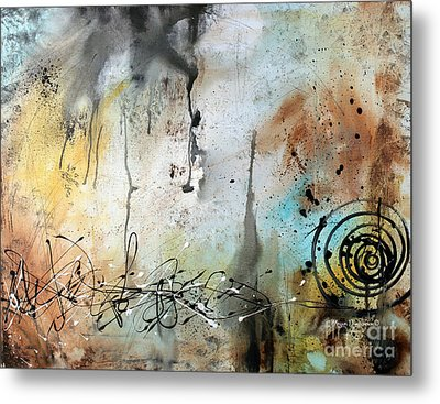 Original Abstract Acrylic Painting On Canvas Desert Surroundings By Megan Duncanson Metal Print