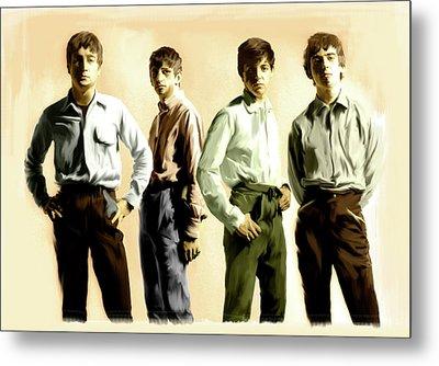 Original Punk The Beatles Metal Print by Iconic Images Art Gallery David Pucciarelli