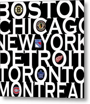 Original Six Metal Print by Andrew Fare