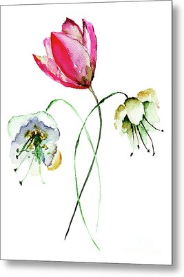 Original Summer Flowers Metal Print