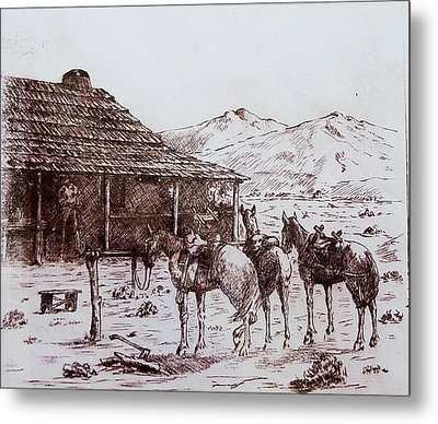 Original Western Artwork 5 Metal Print by Smart Healthy Life