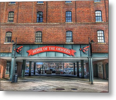 Oriole Park At Camden Yards - Sign Metal Print