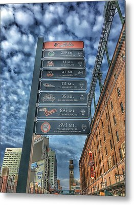 Oriole Park At Camden Yards - Signs Metal Print