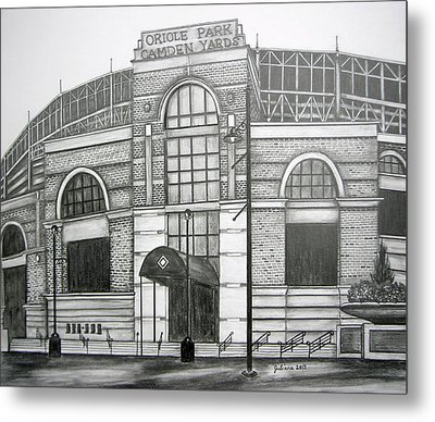 Oriole Park Camden Yards Metal Print by Juliana Dube