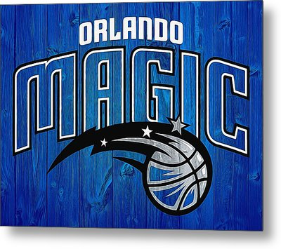 Orlando Magic Graphic Barn Door Metal Print by Dan Sproul