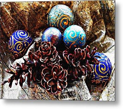 Ornaments 6 Metal Print by Sarah Loft