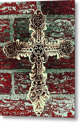 Ornate Cross 1 Metal Print
