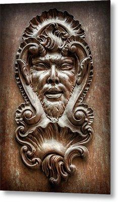 Ornate Door Knocker In Valencia  Metal Print