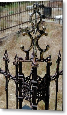 Ornate Iron Works Virginia City Nv Metal Print by LeeAnn McLaneGoetz McLaneGoetzStudioLLCcom